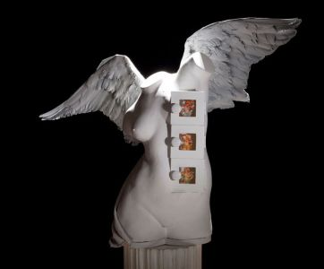 "Angel, 2014, Assemblage, 44 x 30 x 13"""