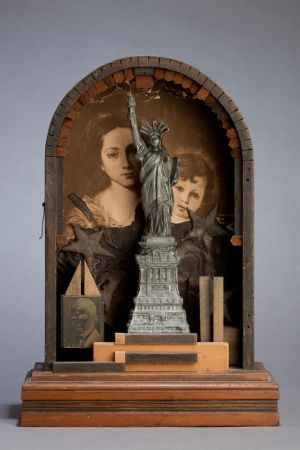Immigrants, 2009, Assemblage, 10 x 14 x 4.5""