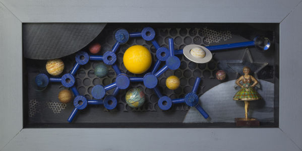 Out There... , 2017, Assemblage, 28.5 x 14.25""