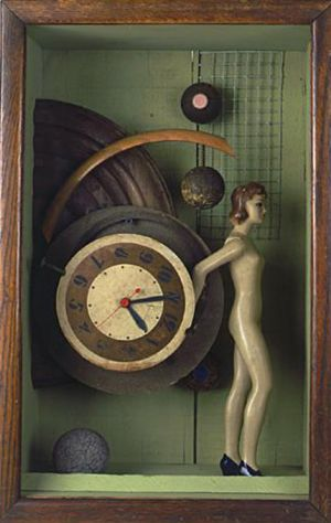 Timeless, 1997, Assemblage, 19.5 x 12.5 x 8.5""