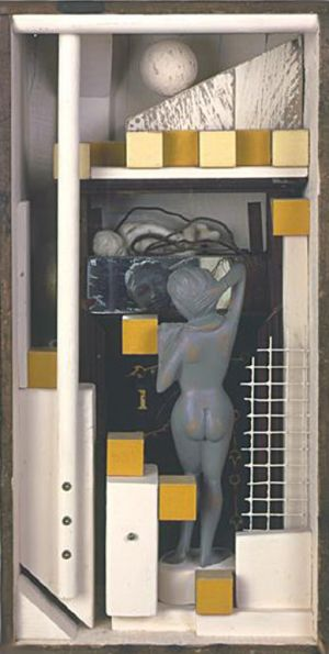"Mirror, 1999, Assemblage, 19 x 9 x 7"""
