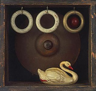 Swan, 1996, Assemblage, 9 x 5.5 x 4