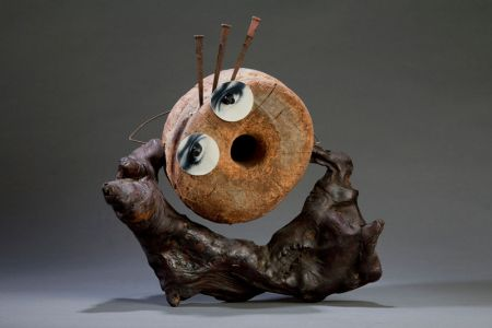 Scream, 2003, Assemblage, 14 x 12 x 8""
