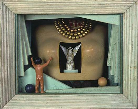 Heart of an Angel, 1998, Assemblage, 14 x 19.5 x 8""