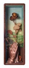 """Don't Look, 1997, Assemblage,6 x 18 x 4"""""""